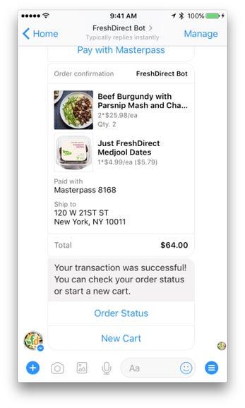 Complete Transaction: FreshDirect