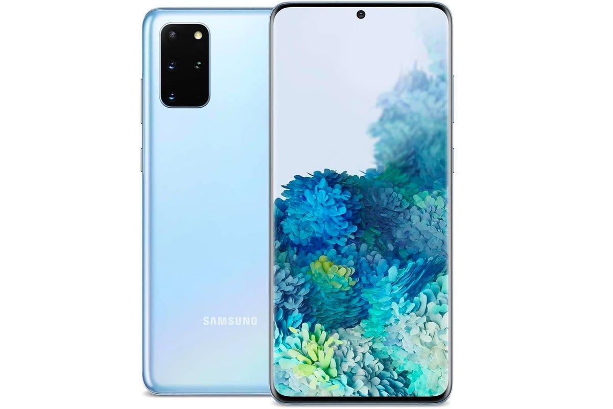 Samsung Galaxy S20+ 5G   Unlocked   128GB of Storage   Cloud Blue