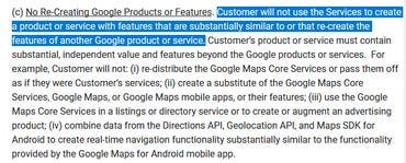Google Maps Platform license