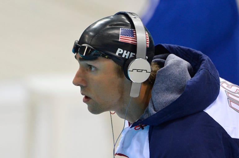 Michael Phelps' Olympic headphones (Verdict: great for hip hop) by Jason O'Grady