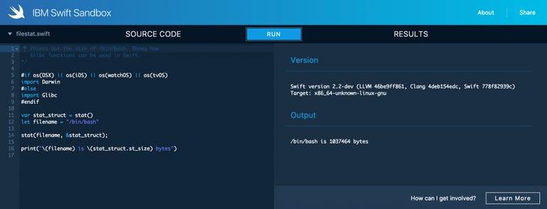IBM Swift Sandbox.png