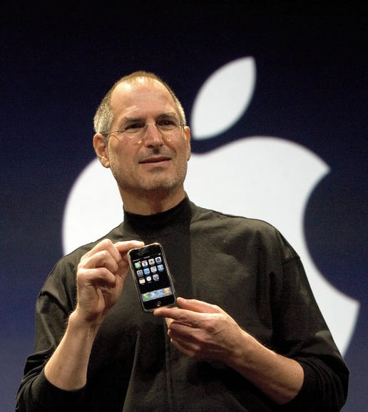 Steve Jobs reveals the first iPhone