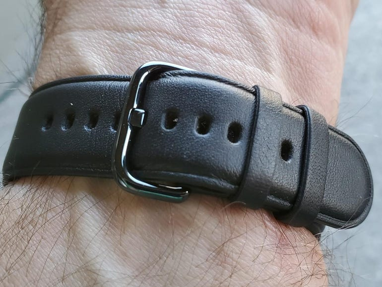 Leather band included with the LTE model