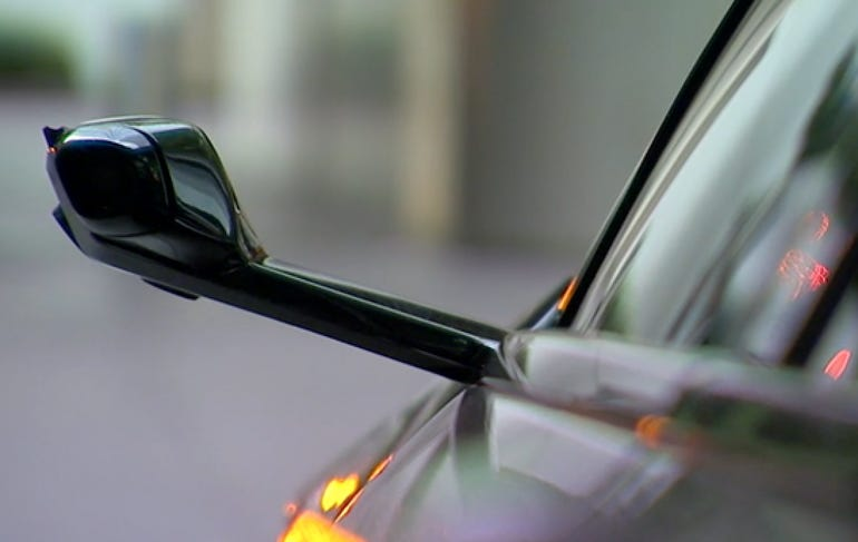 BMW switches mirrors for cameras