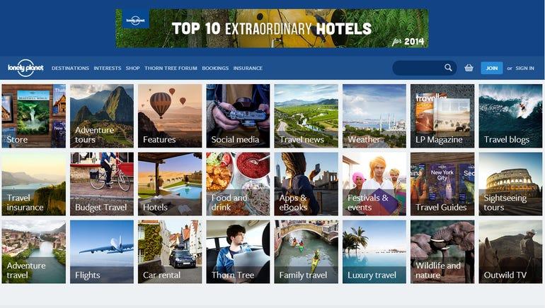 Lonely Planet website screenshot Leon Spencer