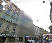 Street View blurred building