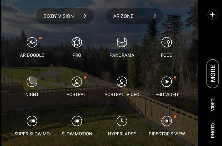 Plethora of camera modes