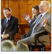 Bill and Melinda Gates with Warren Buffett