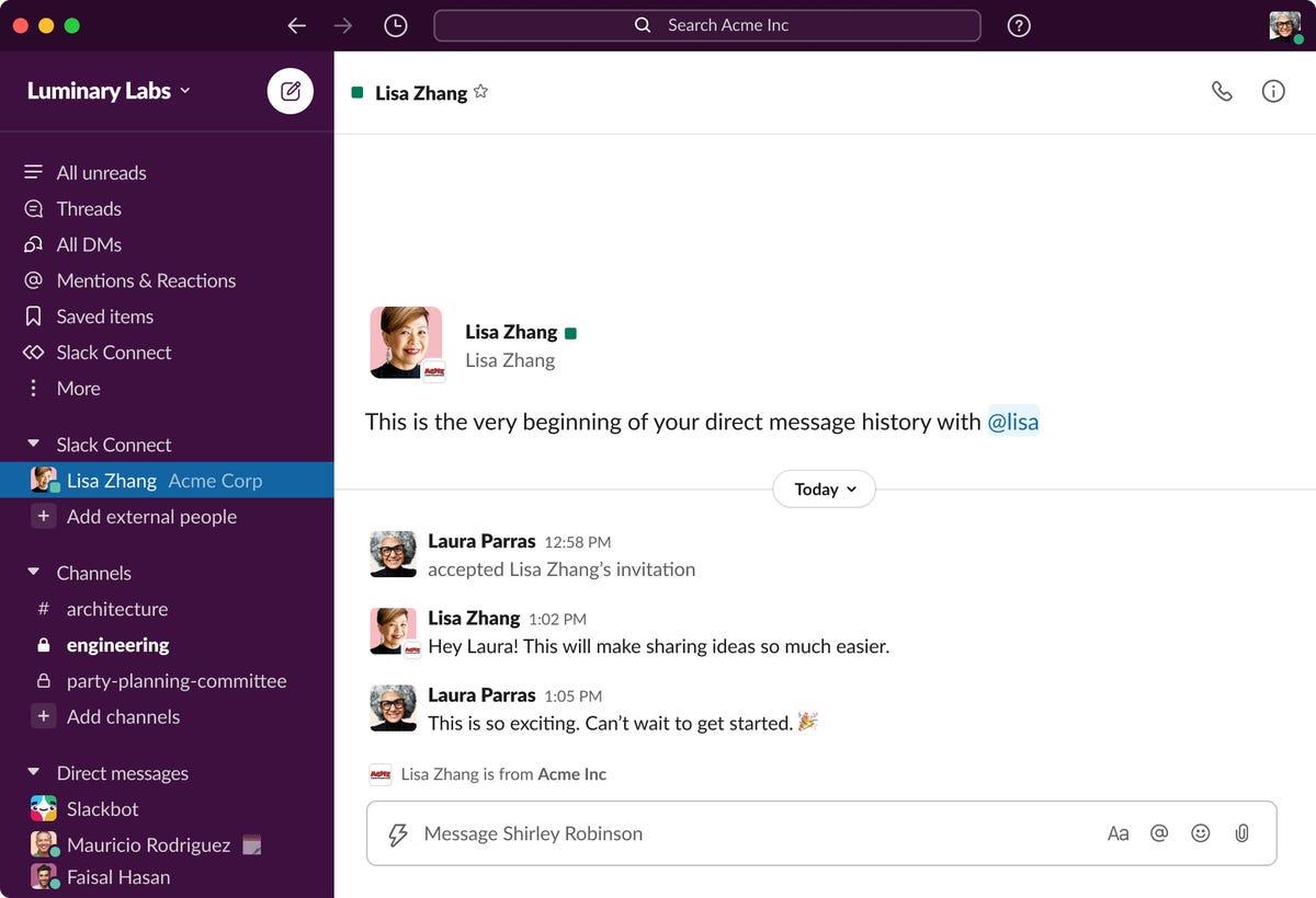 Slack Connect: Les DM sont désormais disponibles