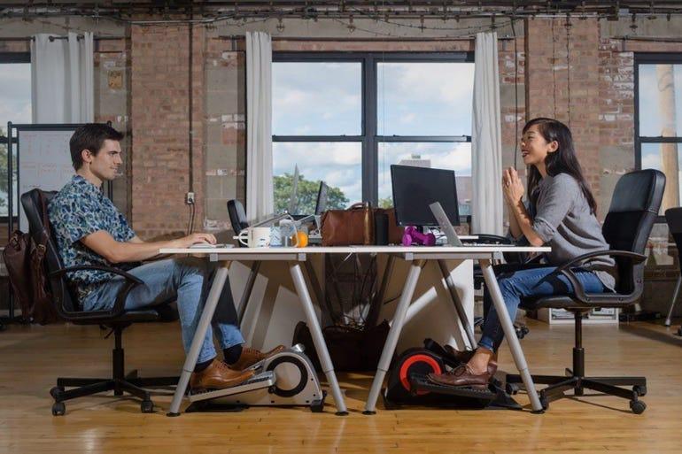 Under-desk trainers