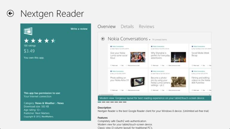 Nextgen Reader store