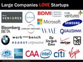 Love fest: Startups and large companies innovate together