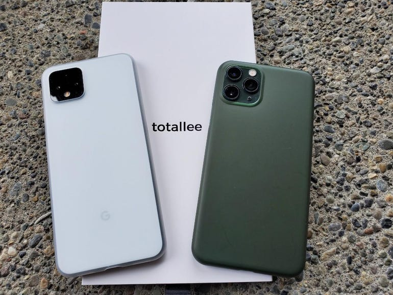 Totallee thin matte cases for the Google Pixel 4 and Apple iPhone 11 Pro