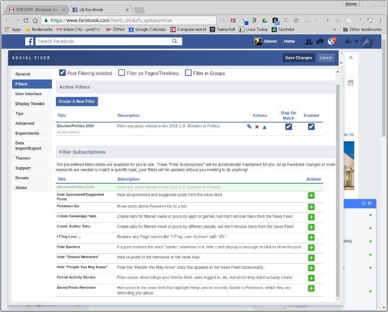 Facebook Social Fixer