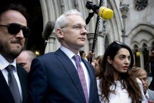 Julian Assange at court