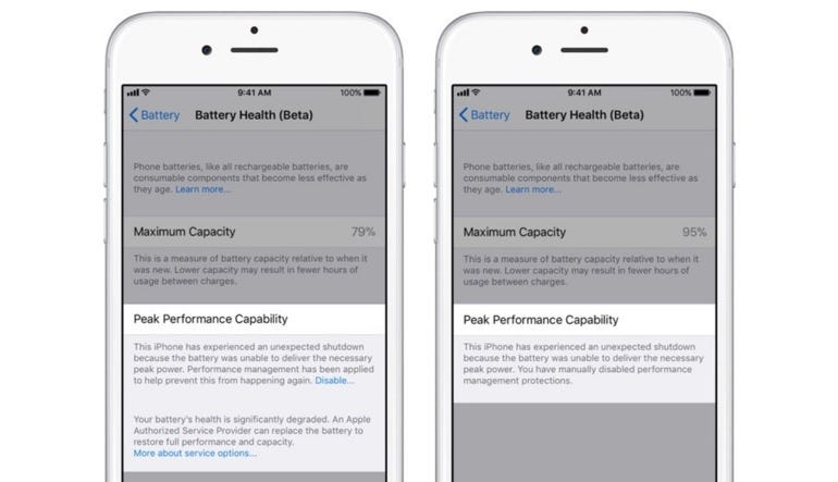 ​What you'll see if your battery is worn