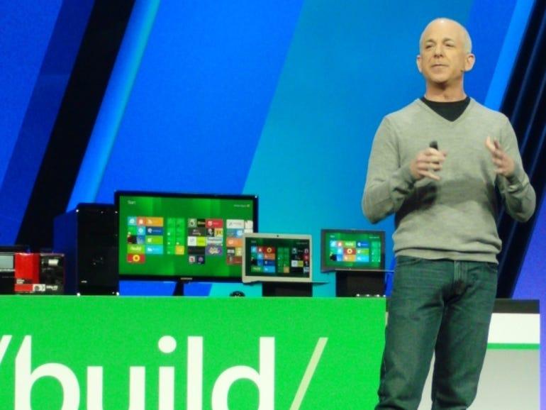 Steven Sinofsky at Microsoft Build.