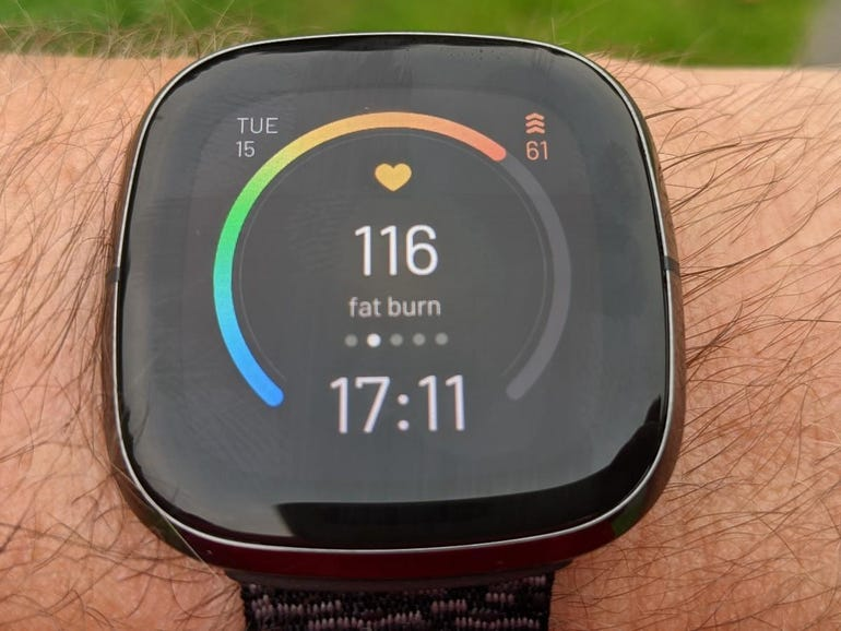 Heart rate on the SpO2 clock face