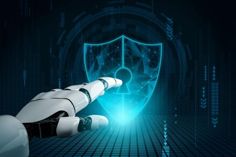 Cyber security concept. Network protection.