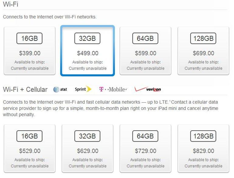 iPad mini with Retina display nearly double the cost of Google Nexus 7