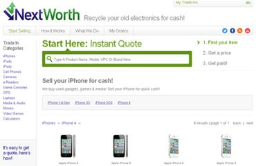 Trade-in your iPhone 4 for $200 from NextWorth. Image by Gloria Sin