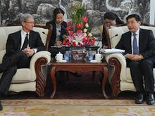 Apple's Cook back in China; Retail store, iPhone boost on cards?