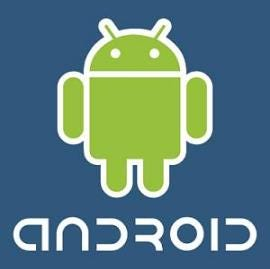 Android logo, from CNET