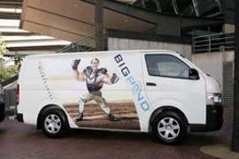New Telstra vans