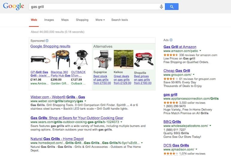 How Google will now display results for rivals' products. Image: European Commission