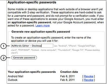 GoogleAppSpecific