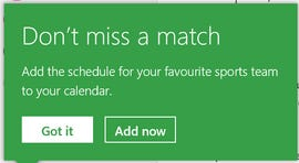 Outlook offers sports schedules