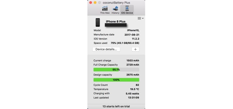 My iPhone 8 Plus after less than four months usage