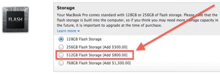 Retina MacBook Pro 13 SSD upgrades are pricey - Jason O'Grady