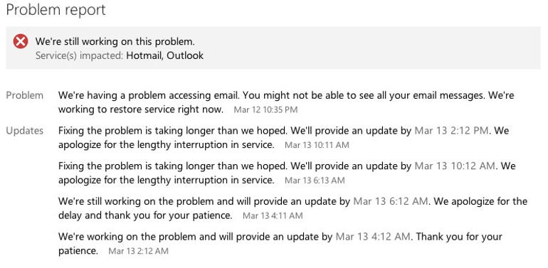 outlook-status-page