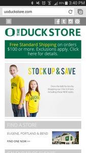 Oregon Duck Store Mobile 1