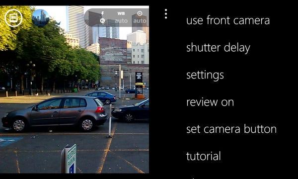 Pro Camera options