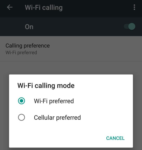WiFi Calling is supported