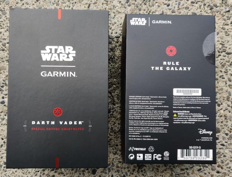 Star Wars Darth Vader themed retail package