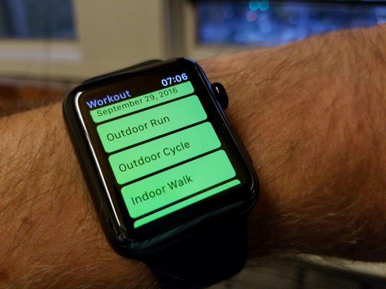Apple Workout app