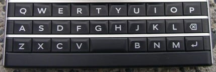 QWERTY at its best on the BlackBerry Passport