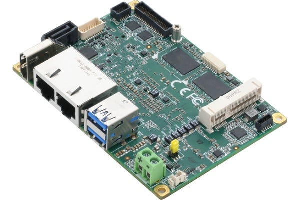 A little bigger than the Raspberry Pi, but a lot more powerful