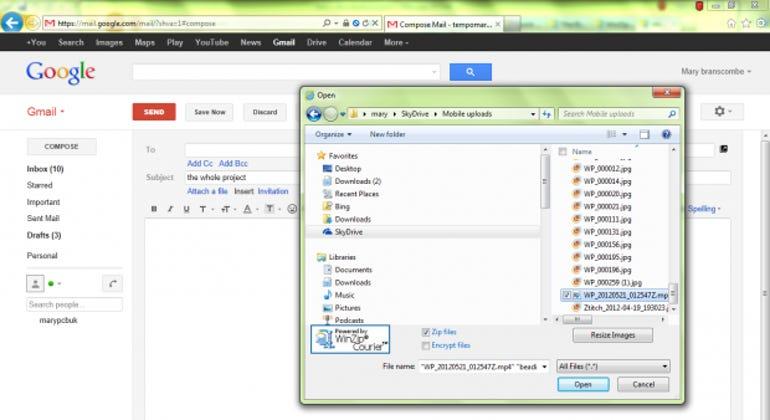 gmail attach