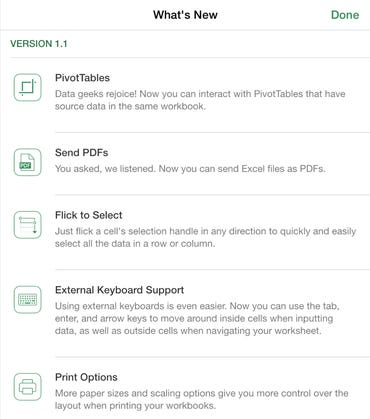 Excel for iPad (version 1.1) - Jason O'Grady