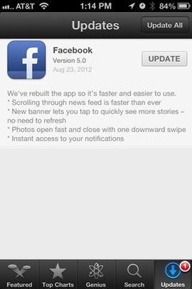 Facebook iOS app overhauled for speed, includes Camera and Messenger - Jason O'Grady
