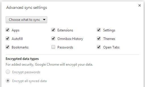 Chrome sync (built into Chrome)