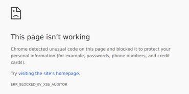 Chrome XSS Auditor error