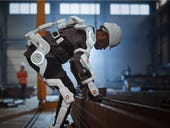 Back pain reducing exoskeleton for e-commerce workers