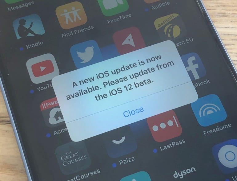 iOS 12 popup bug