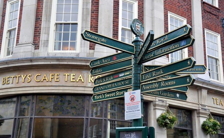 Signpost in York