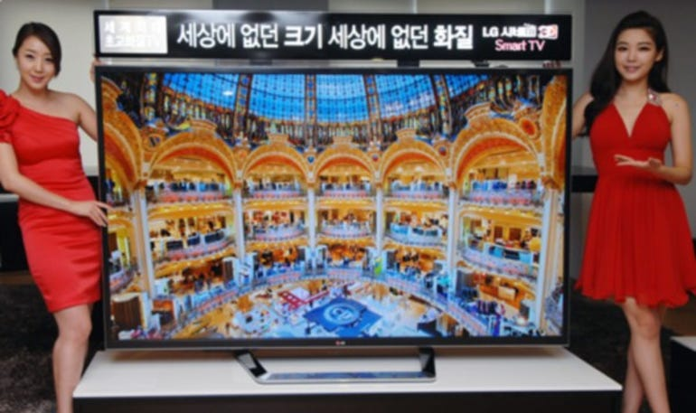 LG's new 3D television with Ultra HD resolution